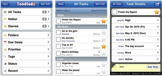 aplicacion organizar tarea